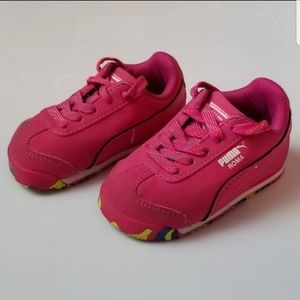 Puma baby toddler girl pink sneakers tennis shoes